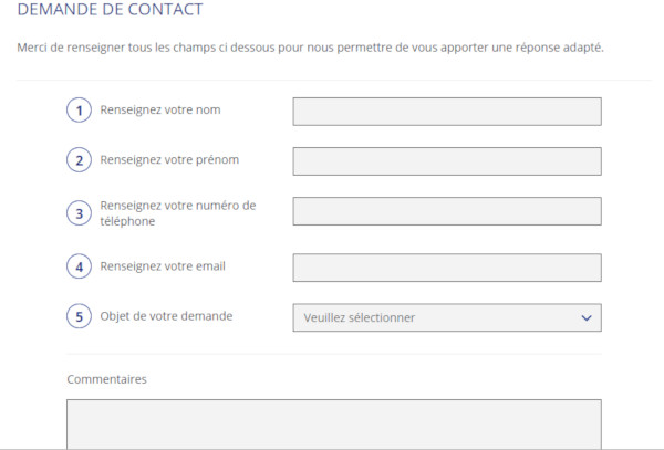 Formulaire de contact Henner GMC