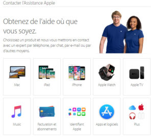 Assistance en ligne Apple