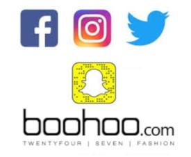 Service client Boohoo sur les réseaux sociaux
