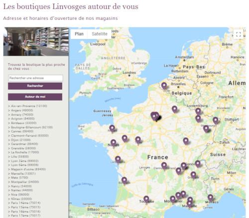 Liste des magasins linvosges en France
