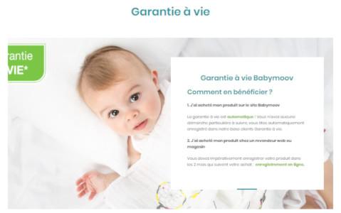garantie à vie babymoov
