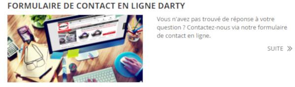 Contacter service client Darty en ligne